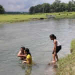 im Wasser